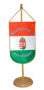 asztali zászló, digitális nyomtatással