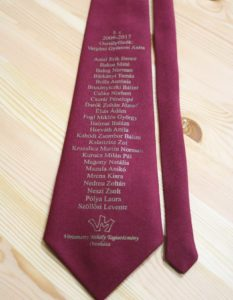 ballagási nyakkendő szitanyomva