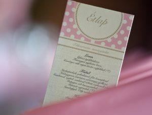 esküvői étlap nyomtatás