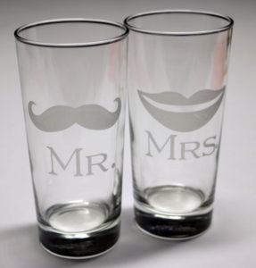 gravírozott pohár