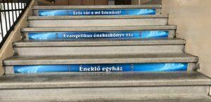 iskolai lépcsődekoráció, tanító lépcsők