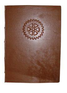 egyedi bőrkötésű könyv
